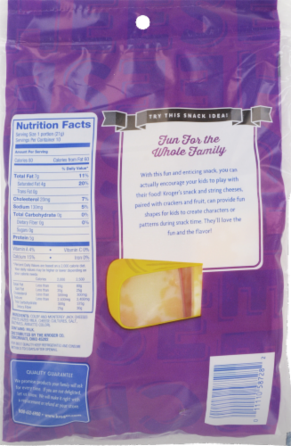 Kroger® Colby Jack Snack Cheese Perspective: back