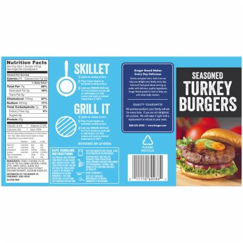 Kroger® 85% Lean Seasoned Turkey Burgers Perspective: back
