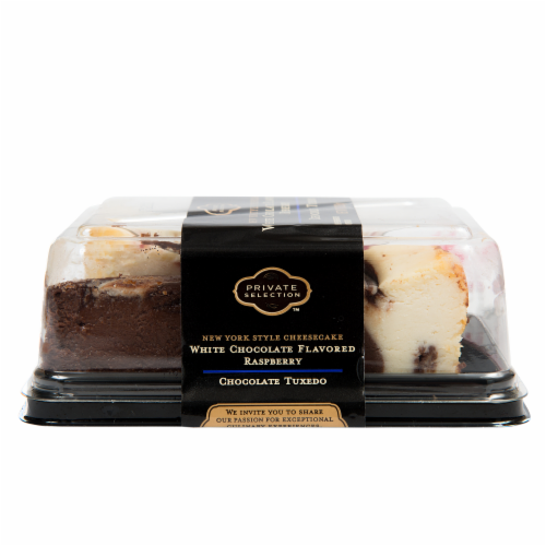 Private Selection® White Chocolate Raspberry Tuxedo Cheesecake Slices Perspective: back