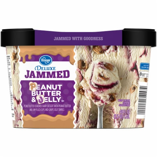 Kroger® Deluxe Jammed Peanut Butter & Jelly Ice Cream Perspective: back