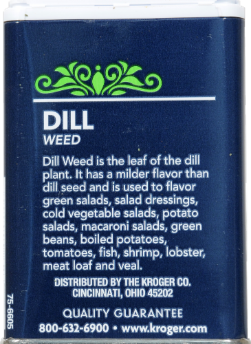 Kroger® Dill Weed Perspective: back