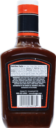 Kroger® Thick N' Spicy Barbecue Sauce Perspective: back