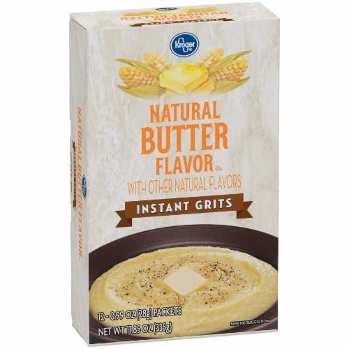 Kroger® Natural Butter Flavor Instant Grits Perspective: back