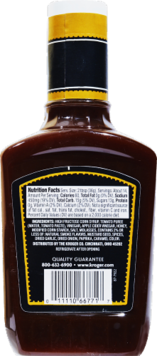 Kroger® Honey Sweet Barbecue Sauce Perspective: back