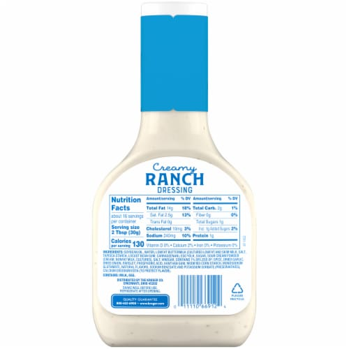 Kroger® Creamy Ranch Dressing Perspective: back