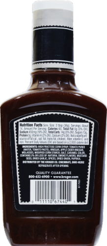Kroger® Hickory Smoke Barbecue Sauce Perspective: back
