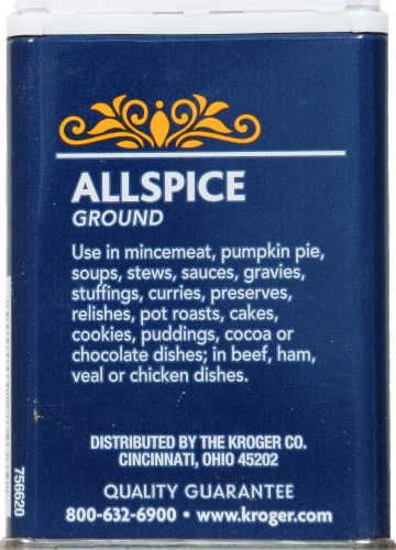 Kroger® Ground Allspice Perspective: back