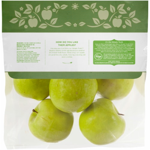 Simple Truth Organic™ Granny Smith Apples Perspective: back