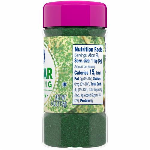 Kroger®  Green Sugar Topping Perspective: back