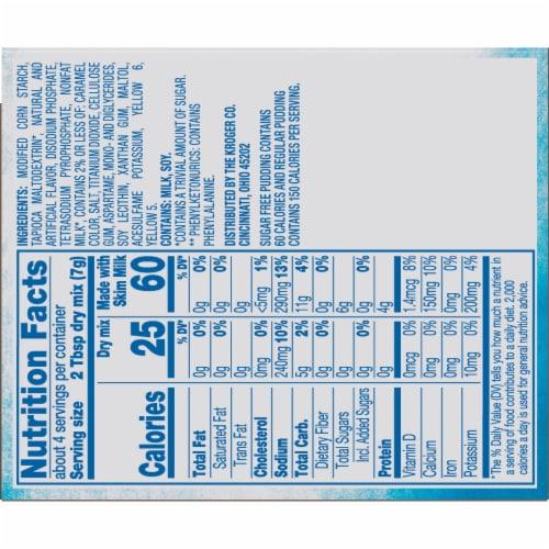 Kroger®  Butterscotch Instant Sugar Free Pudding & Pie Filling Perspective: back