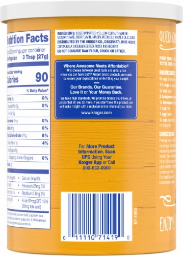 Kroger® Yellow Corn Meal Perspective: back