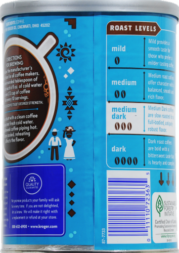 Kroger® 100% Colombian Medium Dark Roast Ground Coffee Perspective: back