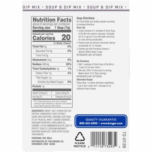 Kroger® Onion Soup & Dip Mix Perspective: back