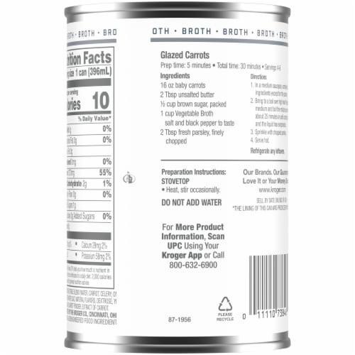 Kroger® Fat Free Vegetable Broth Perspective: back