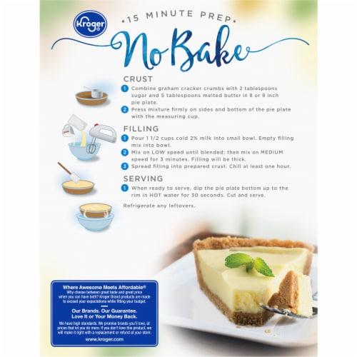 Kroger® Original No Bake Cheesecake Perspective: back