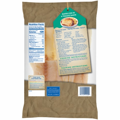 Kroger® Wild Caught Boneless & Skinless Pacific Cod Perspective: back
