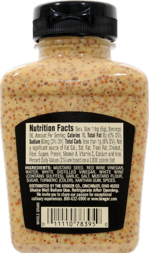 Private Selection® Whole Grain Garlic Mustard Perspective: back