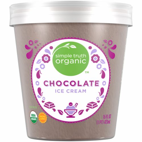 Simple Truth Organic™ Chocolate Ice Cream Perspective: back