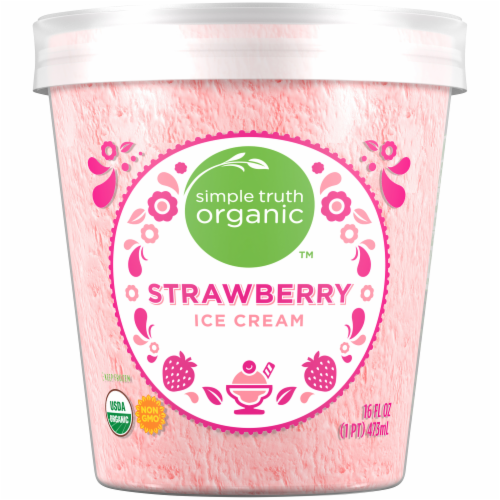 Simple Truth Organic™ Strawberry Ice Cream Perspective: back