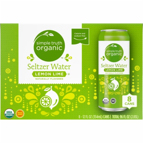 Simple Truth Organic™ Lemon Lime Seltzer Water Perspective: back