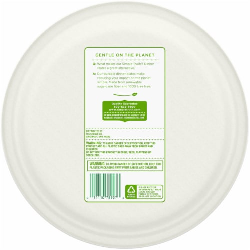 Simple Truth® 10.25-Inch Dinner Plates Perspective: back