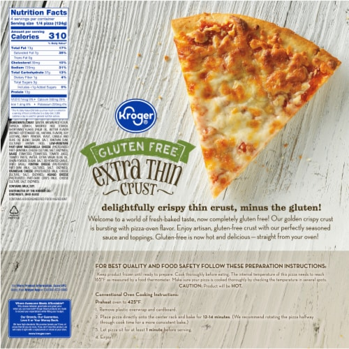 Kroger® Gluten Free Four Cheese Extra Thin Crust Pizza Perspective: back