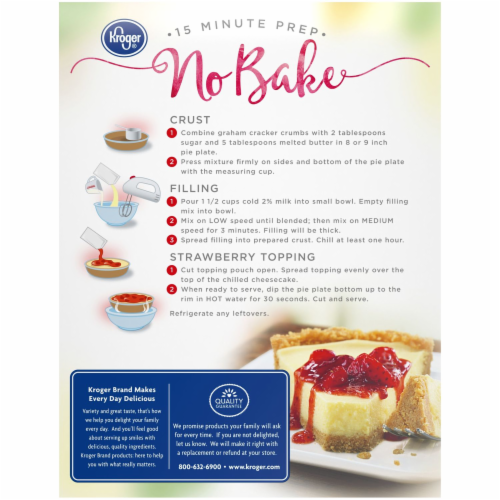Kroger® Strawberry Cheesecake Dessert Mix Perspective: back
