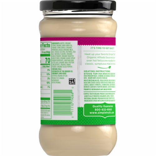 Simple Truth Organic™ Roasted Garlic Alfredo Sauce Perspective: back