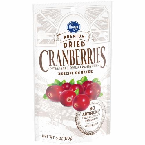 Kroger® Premium Sweetened Dried Cranberries Bag Perspective: back