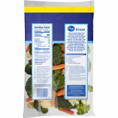 Kroger® Vegetable Medley Perspective: back