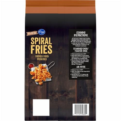 Kroger® Seasoned Spiral Fries Perspective: back