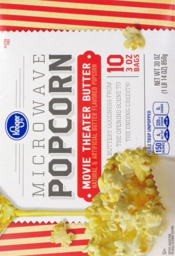 Kroger® Movie Theater Butter Microwave Popcorn Perspective: back