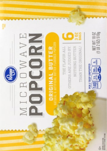 Kroger® Original Butter Gluten Free Microwave Popcorn Perspective: back