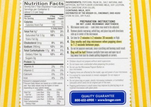 Kroger® Original Butter Microwave Popcorn Perspective: back