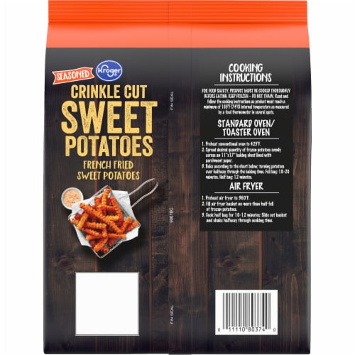 Kroger® Crinkle Cut French Sweet Potato Fries Perspective: back