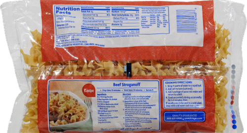 Kroger® Wide Egg Noodles Perspective: back