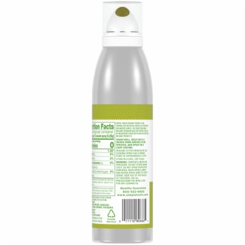Simple Truth Organic™ Extra Virgin Olive Oil Cooking Spray Perspective: back