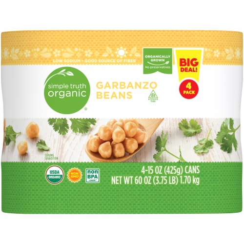 Simple Truth Organic® Garbanzo Beans Perspective: back