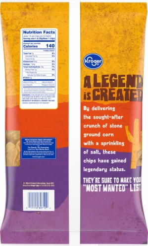 Kroger® Tortilla Cupz Chips Perspective: back