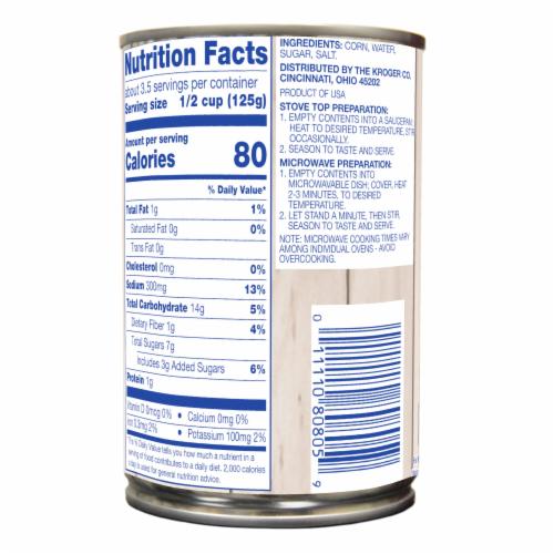 Kroger® Sweet White Whole Kernel Corn Perspective: back