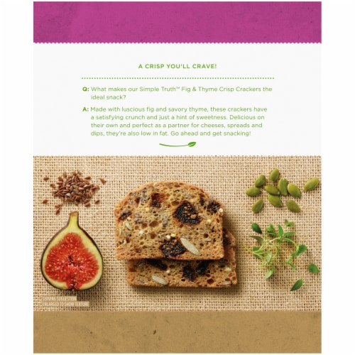 Simple Truth™ Fig & Thyme Crisp Crackers Perspective: back