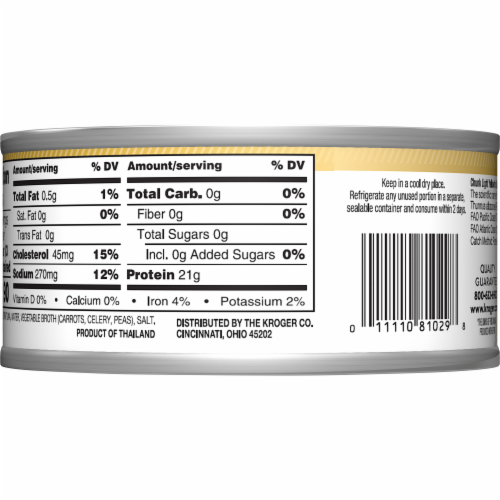 Kroger® Ralphs Chunk Light Yellowfin Tuna Perspective: back