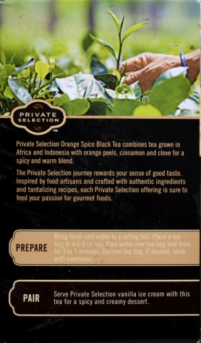 Private Selection™ Orange Spice Black Tea Bags Perspective: back