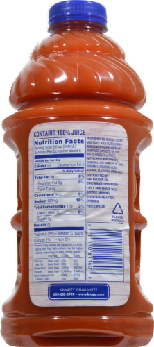 Kroger Spicy 100% Vegetable Juice Perspective: back