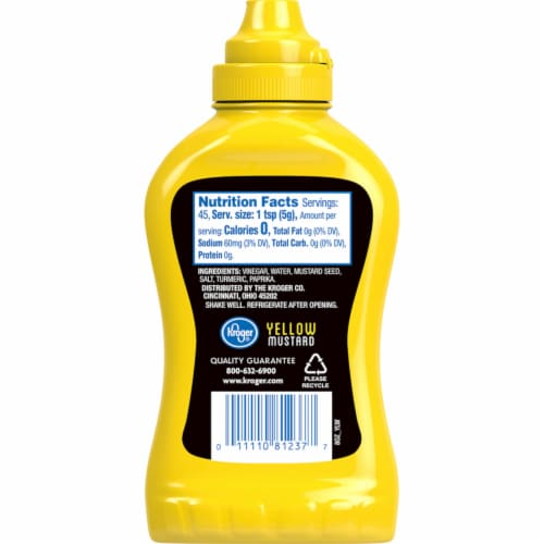 Kroger Yellow Mustard Perspective: back