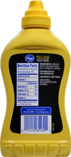 Kroger® Yellow Mustard Perspective: back