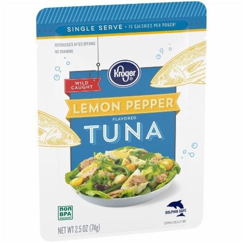Kroger® Wild Caught Lemon Pepper Flavored Tuna Pouch Perspective: back