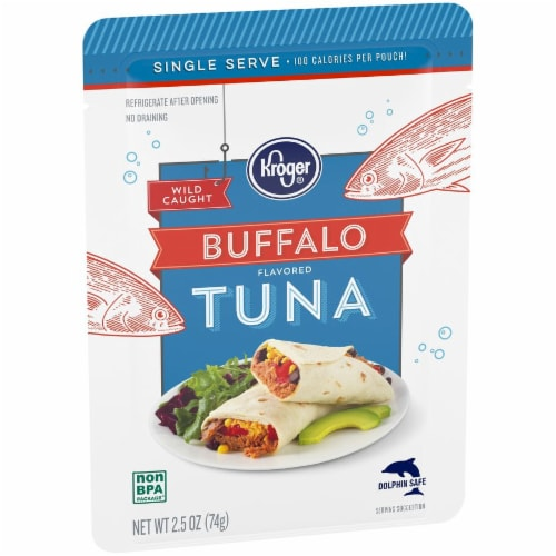 Kroger® Wild Caught Buffalo Flavored Tuna Pouch Perspective: back
