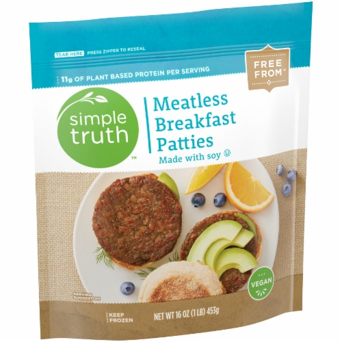 Simple Truth™ Meatless Breakfast Patties Perspective: back