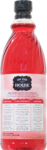 On the House Grenadine Syrup Perspective: back